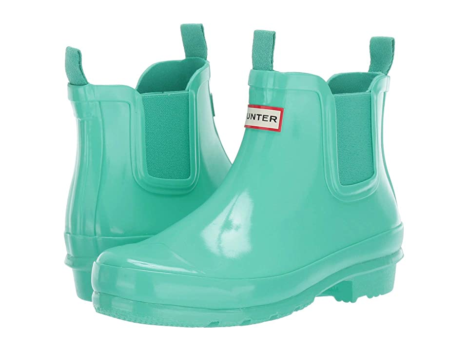 Hunter Kids Chelsea Gloss Rain Boots (Little Kid/Big Kid) (Ocean Swell) Kids Shoes
