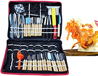 WUPYI 80pcs Kitchen Carving Tools Kit,Portable Vegetable Fruit Food Peeling Carving Tools Kit Culinary Carving Tool Set Fruit Veg Garnishing Making for Chef DIY with Carry Box