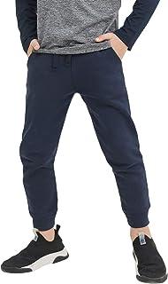 CUNYI Boys' Cotton Active Slim Fit Jogger Athletic Pants