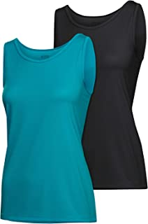 Schiesser Women's Sport 2pack Tops Thermal, Multicoloured (Assorted 1 901), 10 (Pack of 2)