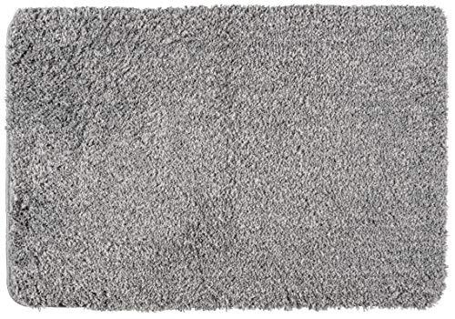 Gris souris 70 x 120 x 3 cm WENKO 23077100 Tapis de bain Belize Polyester