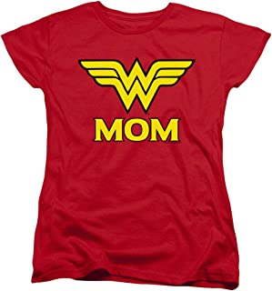 Wonder Woman Wonder Mom DC Comics Women's T Shirt & Stickers
