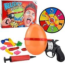 NUOBESTY Lucky Globo de Juguete Ruso Ruleta Globo Pistola Pistola Parodia de Escritorio Juego de Padres E Hijos Juguete Complicado para Niños Adultos (Color Aleatorio)
