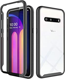 iRunzo Hybrid Rugged Armor Case for LG V60 ThinQ / G9 ThinQ Cover 2 in 1 Soft TPU Transparent Back Cover + PC Bumper 360° ...