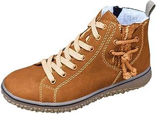 Sneakers Donna Calda Taglie Forti Scarpe Basse Casual con Zeppa Stivali Corti alla Caviglia