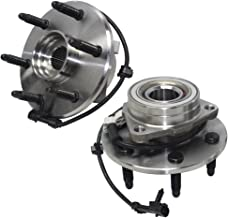Detroit Axle – 4WD 515036 Front Wheel Bearing and Hub Assembly 6LUG 2PC Set for 4WD..