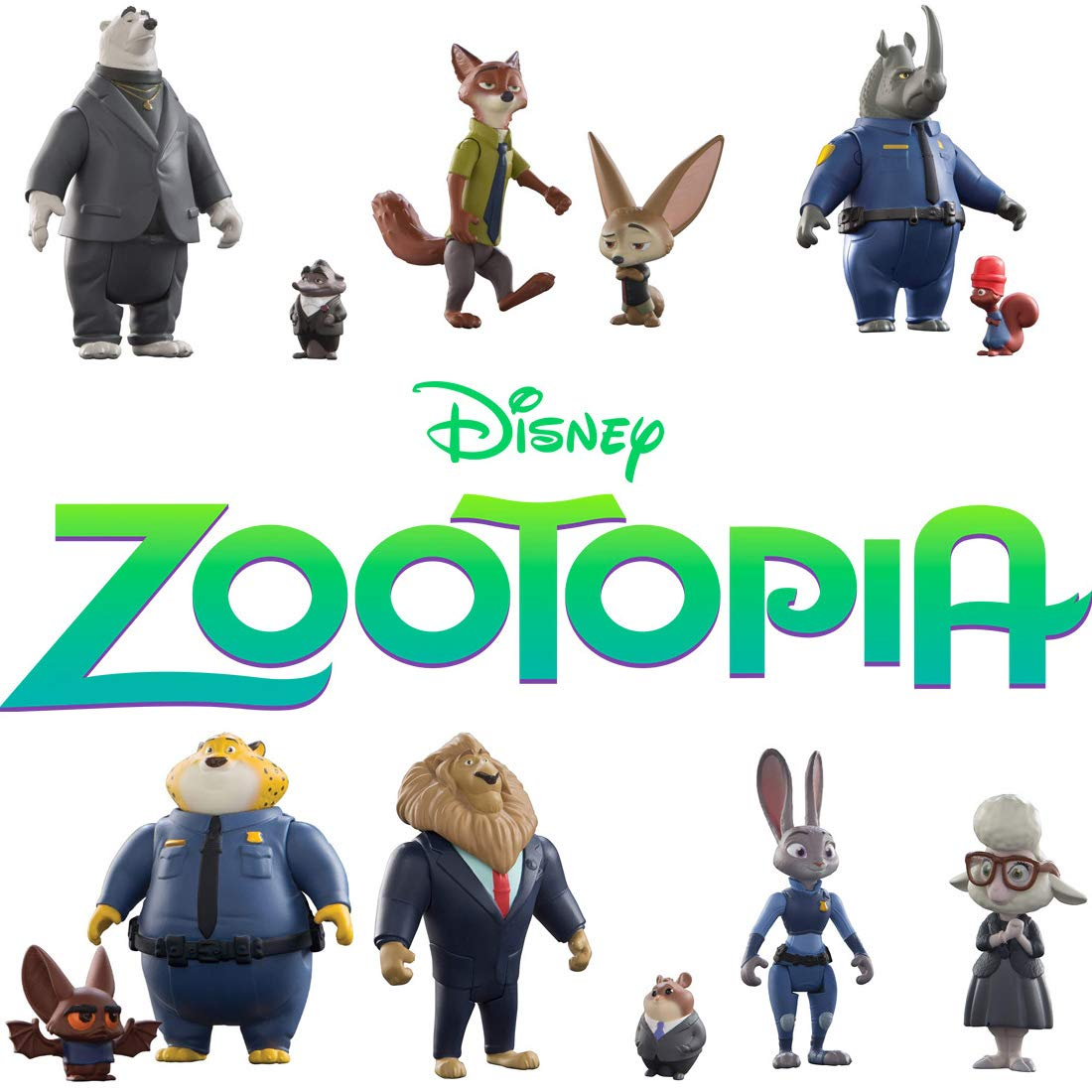 Zootropolis - Pack 2 Figuras de Judy Hopps & May Bellwether (Bizak 30690901): Amazon.es: Juguetes y juegos