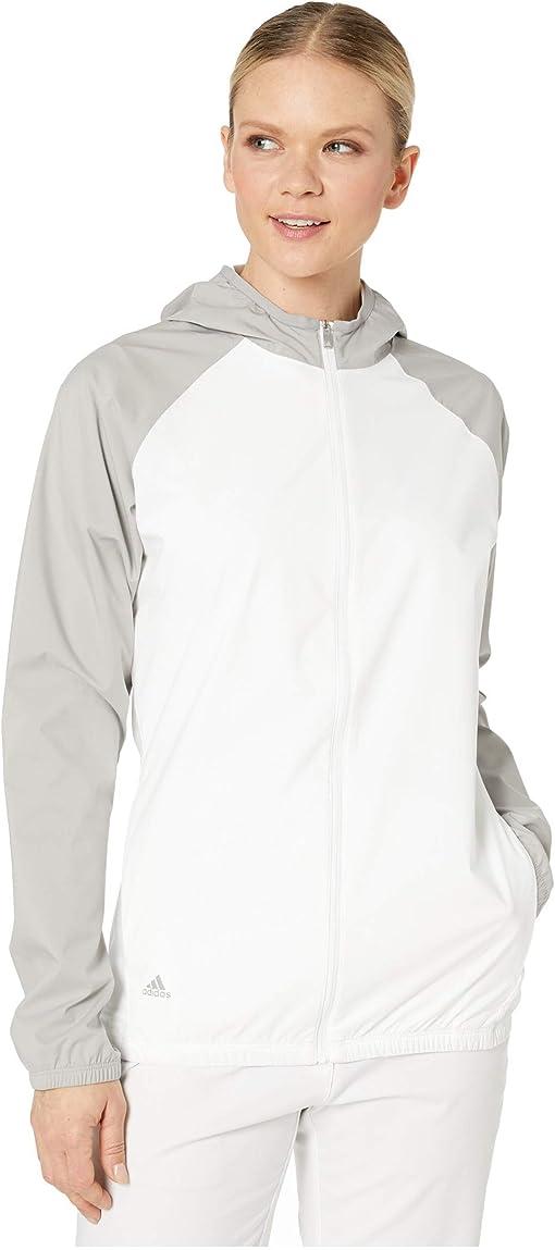 White/Medium Solid Grey