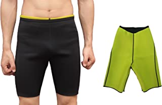 Valentina Mens Hot Body Shaper Shorts Workout Sweat Sauna Pants for Weight Loss