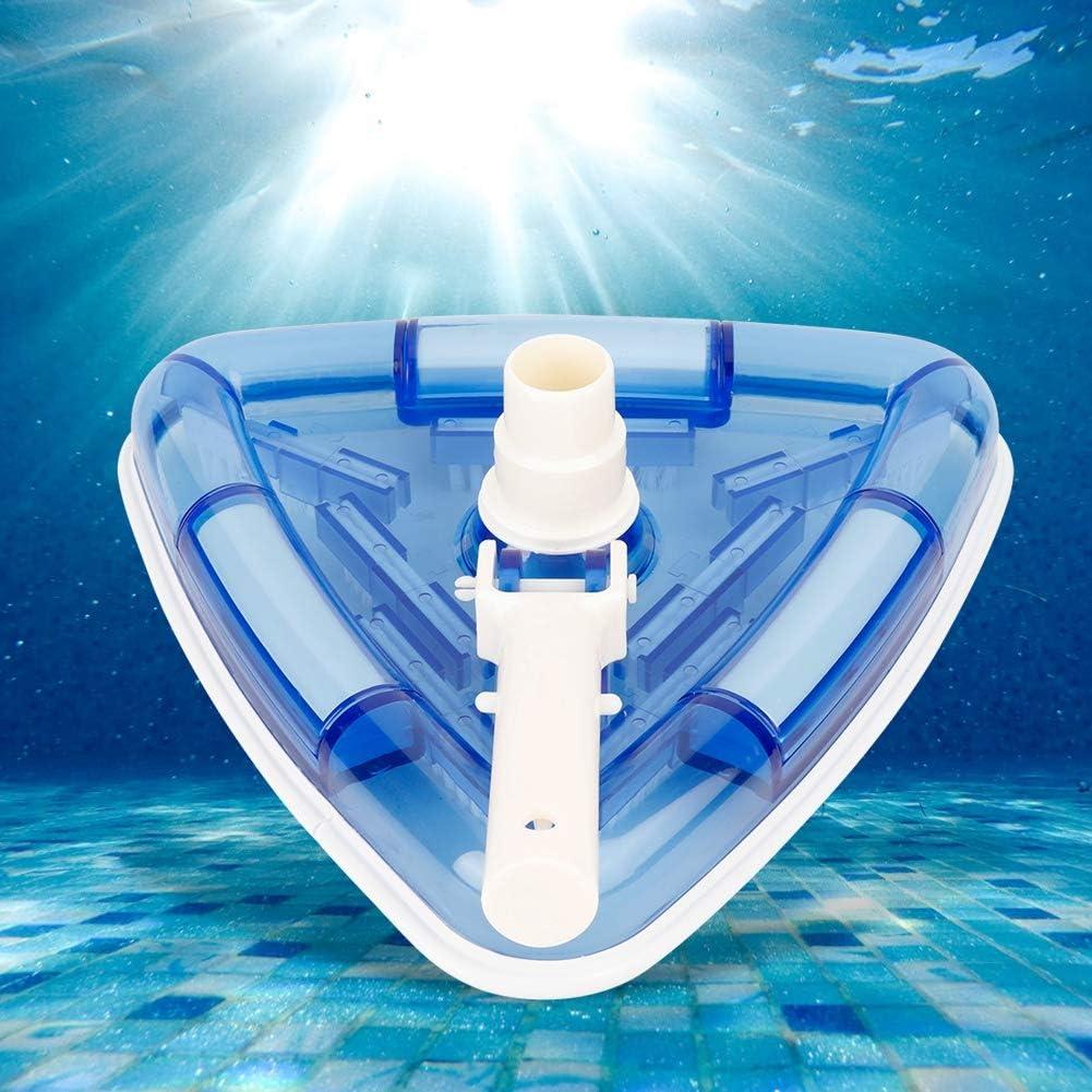 Cabeza de vacío de plástico práctica de forma triangular 11 pulgadas fácil de usar para piscina piscina herramienta de limpieza
