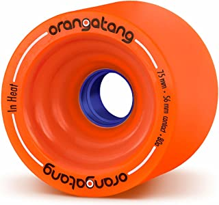 Orangatang in Heat 75 mm Downhill Longboard Skateboard Cruising Wheels (Set of 4)