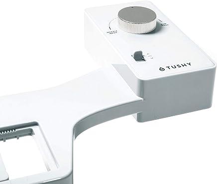 TUSHY Classic Bidet Toilet Attachment - Modern Sleek Design - Fresh Clean Water Sprayer - Non-Electric Self Cleaning Nozzle (White/Silver Knob)