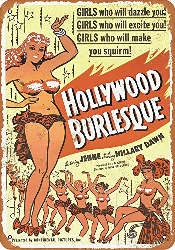 Molala Retro Metal Sign Decor Poster 8 X 12 Inches 1949 Hollywood Burlesque Movie 2 - Vintage Tin Sign Wall Plaque
