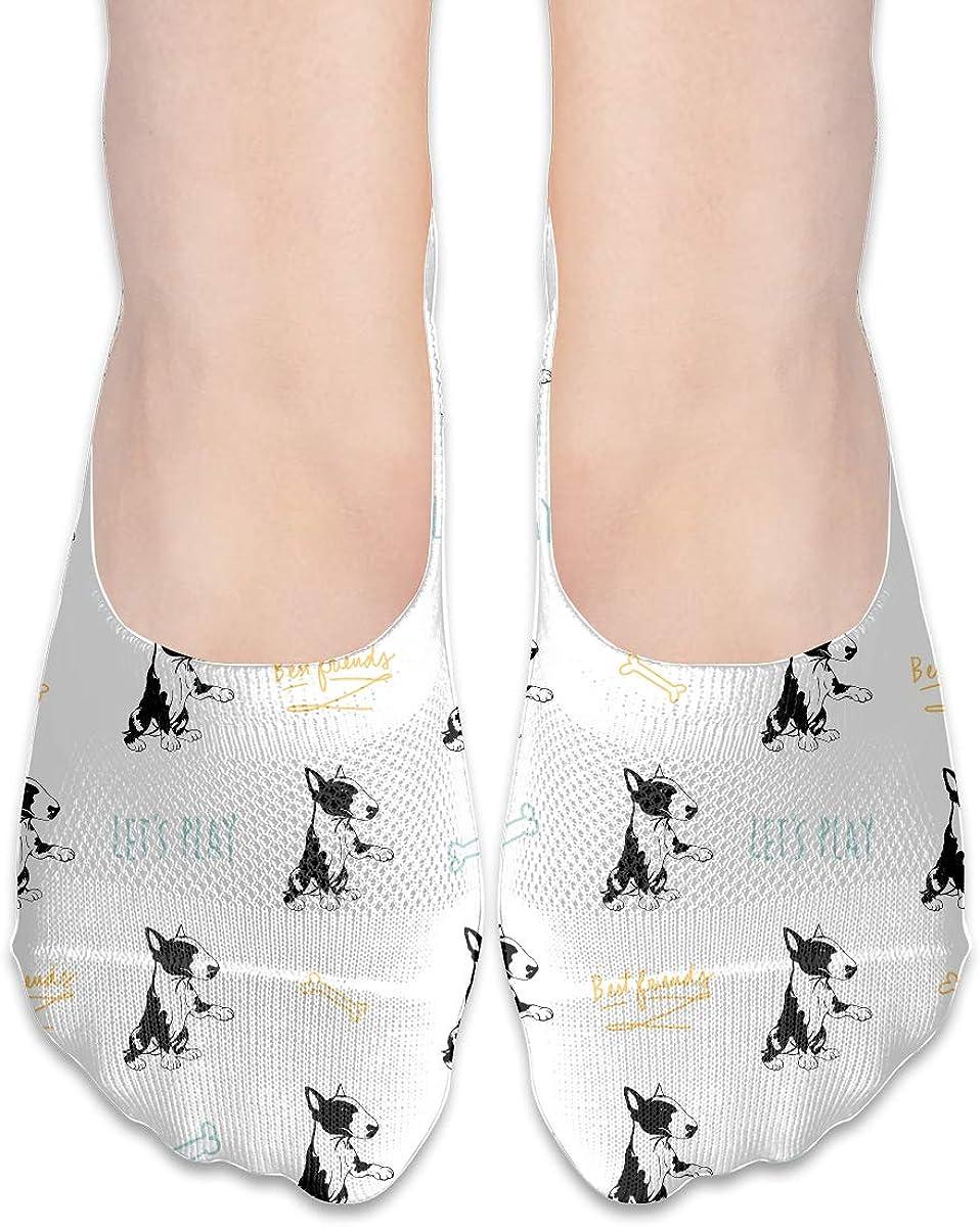 Casual English Bull Terrier Socks, No Show Socks For Women Men