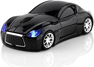 MGbeauty Car Mouse Wireless Mouse USB Computer Mice Laptop Gaming Mouse for Windows Mac Black