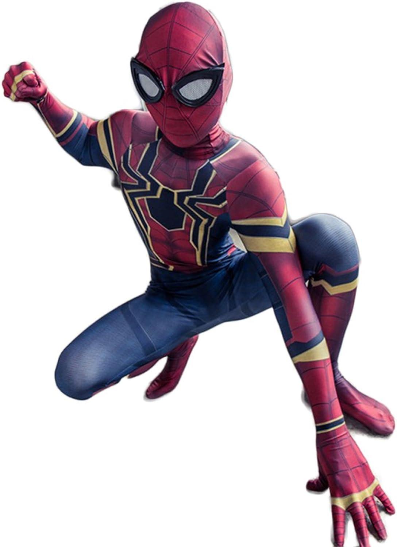 ZYFDFZ Spider-Man Cosply Kinderstrumpfhose Einteilige Kostüme Requisiten The Avengers 3 Unendliche Kriegseisen Movie Party Requisiten Cosplay Requisiten (Farbe   Photo Farbe, gre   M 120)