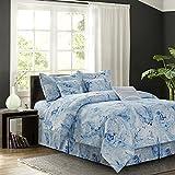 R2Zen Carrera Blue 7-Piece Comforter Set, Queen