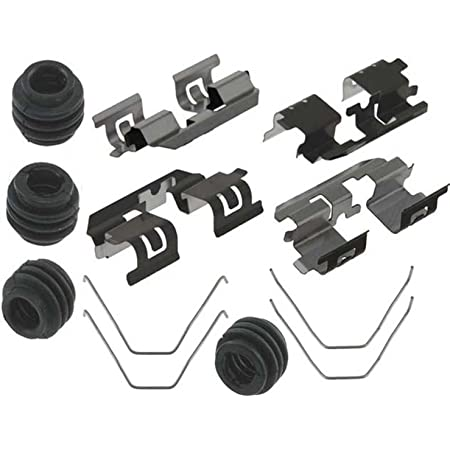 Seals ACDelco 18K2102X Professional Rear Disc Brake Caliper Hardware Kit with Clips Springs and Bushings