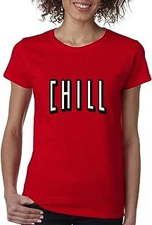 Cosmozz Netflix and Chill Ladies T-Shirt Funny Hangout Shirts