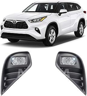 Concept Fog Lights For 2020 2021 Toyota Highlander Fog LED Lights with Assembly Set L&R Side