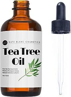 Tea Tree Essential Oil by Kate Blanc, 100% Pure Therapeutic Premium Grade for Aromatherapy, Acne, Shampoo, Body Wash. Help Remove Fungus on Toenails. 1-Year Guarantee.