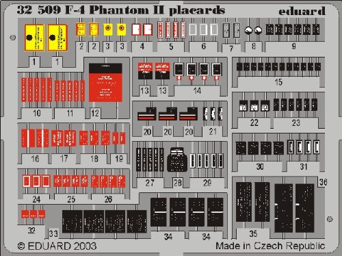 Eduard Accessories 32509 Accessoires de modélisme F-4 Phantom II Placards