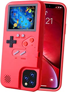 POKPOW Handheld Game Console Phone Case for iPhone 11 Pro Max Case with Built in 36 Retro Games Compatible with iPhone 11 Pro Max Anti-Scratch Shock Absorption Cover (Red)