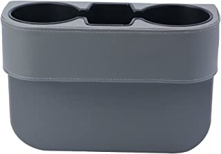 Elecrelive Universal 2 Cup Drink Holder, Auto Front Seat Organizer, Car Seat Wedge Console Side Pocket Mobile Phone Storage (Gray)