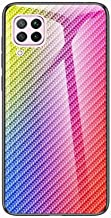 Miagon Glass Case for Huawei P40 Lite Carbon Fiber Series 9H Tempered Glass Hard Back Cover with Soft Silicone Frame Bumper Protective Case for Huawei P40 Lite Colorful Estimated Price : £ 5,99