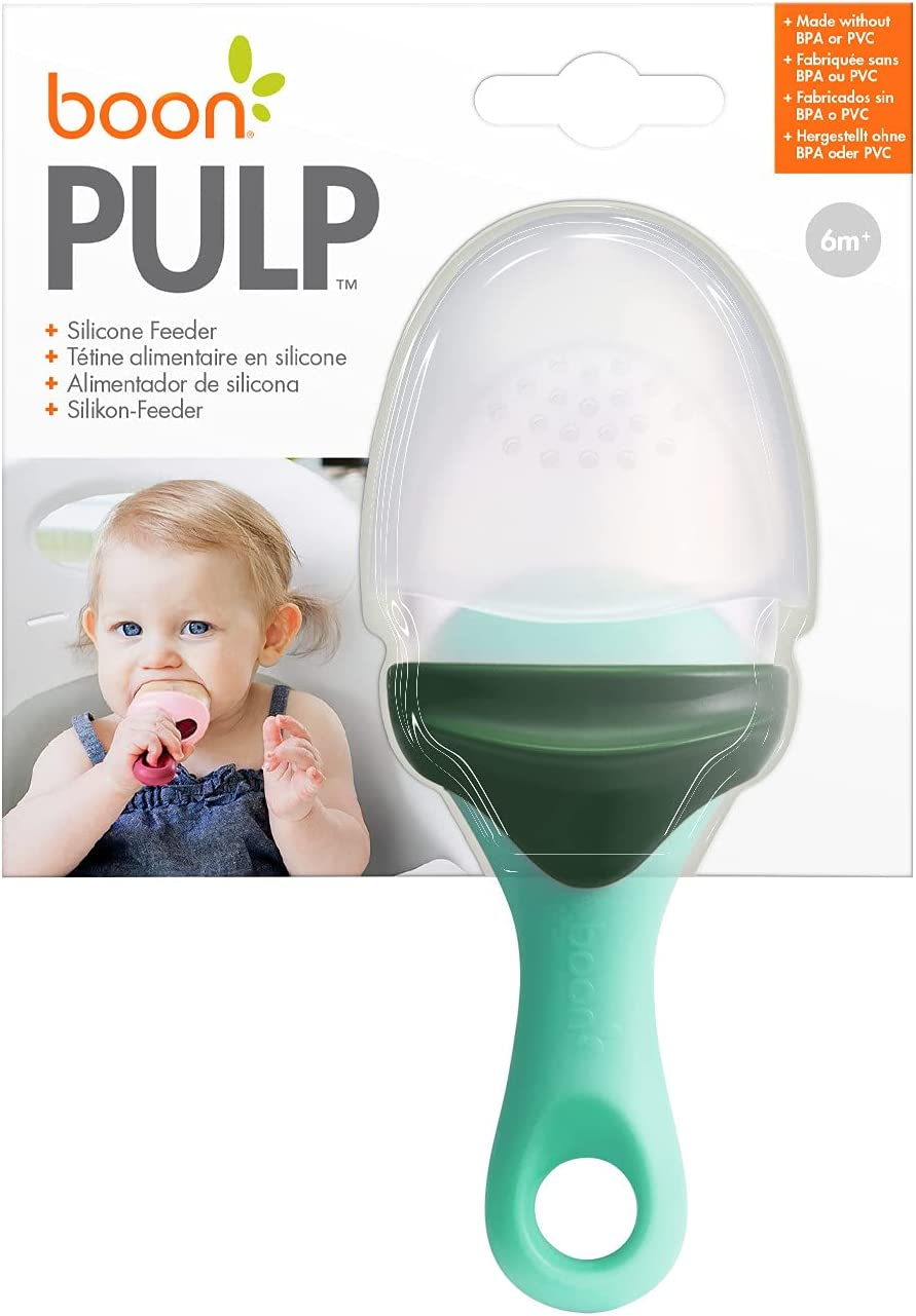 Boon Pulp Silicone Feeder 1pk, Mint and Dark Green, 1 Pack