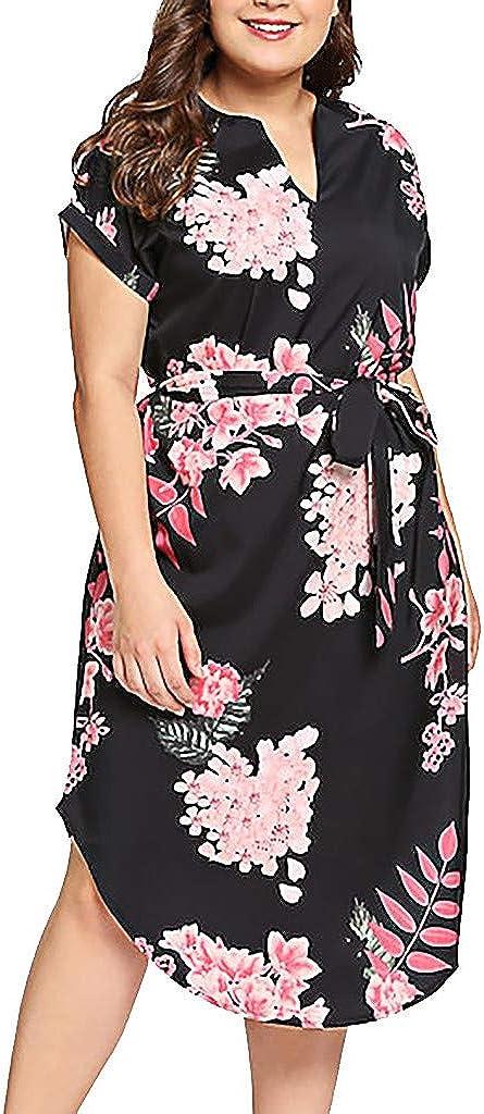 Popular shop is the lowest price challenge KYLEON Womens Plus Size Sun Dress Wrap Credence Neck Waist Flora V Empire