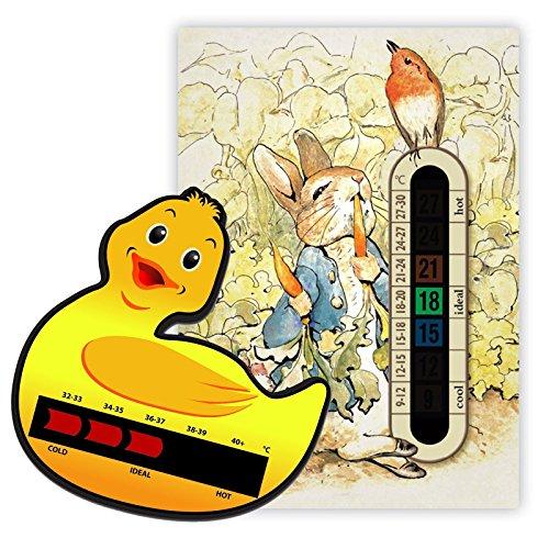 Peter Rabbit Kinderzimmer-Thermometer und Enten-Badethermometer für Baby/Kind, Flüssigkristall-Display
