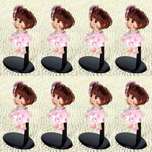 perfeclan 8pcs Einstellbare Puppenständer Puppe Halter Display Stand Puppenzubehör
