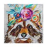 Trademark Fine Art アライグマの花 エリザベス・セント・ハイレイレ作 24x24