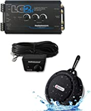 AudioControl LC2i 2 Channel Line Out Converter with Accubass and Subwoofer Control and ACR-1 Dash Remote with DiscountCentralOnline WB12 Bluetooth Speakers