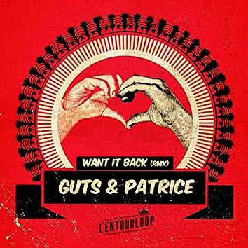 Want It Back (feat. Guts, Patrice) [L'Entourloop & Troy Berkley Remix]