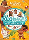 VAIANA - Mes Coloriages avec Stickers - Disney