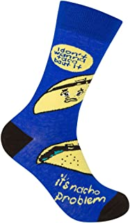 I Don't Wanna Taco 'Bout It, It's Nacho Problem - Funny, Mexican Food, Taco Bell Unisex Crew Sock