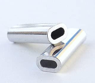 Aluminum Oval Crimp Sleeves 2.2mm x 18mm - 100 pieces DE size