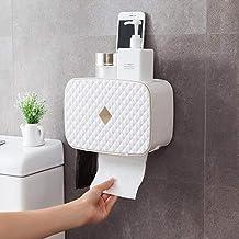 Toiletrolhouder, badkamerpapierrolhouder Toiletrolhouder voor keuken wasruimte -wit