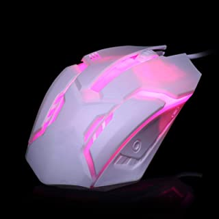 xiaoxioaguo Ergonomic wired gaming mouse button LED 2000 DPI USB computer mouse with backlight
