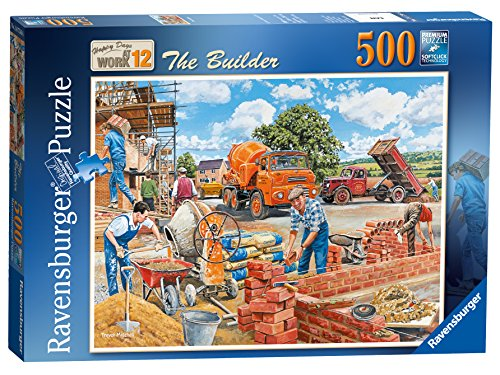 Ravensburger Happy Days at Work Nr. 12 - De Bouwer kunstnagel puzzel 500-delig