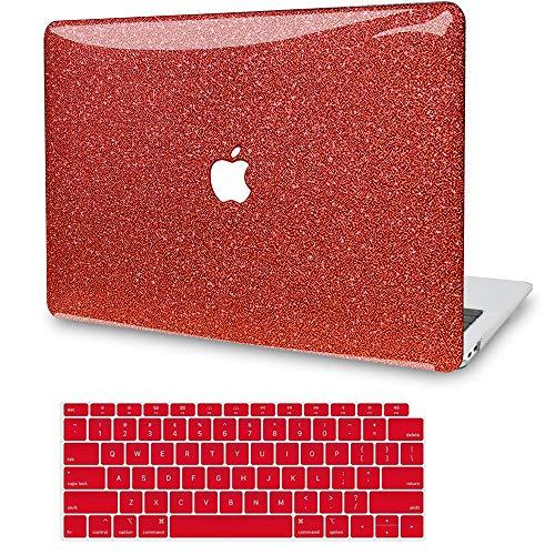 """JGOO Coque rigide en plastique avec clavier pour MacBook Air 13"""" 2020 2019 2019, version A2179 A1932, avec écran Retina et Touch ID A2159/A1989/A1706/A1708 Mac Pro 13"""" 2019/18 Rouge"""