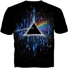 Get Down Art Pink Floyd Dark Side of The Moon Blue Splatter Short Sleeve T-Shirt
