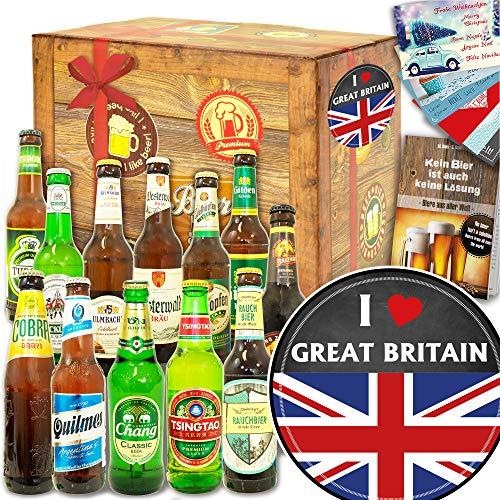 I love Great Britain / 12x Bier Welt und DE/Geschenk England