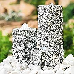 interline garten terrassen brunnen granit neptun grau floristikvergleich. Black Bedroom Furniture Sets. Home Design Ideas