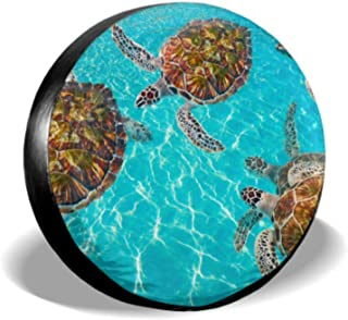 Chawzie Riviera Maya Turtles Photomount On Caribbean Tire Sidewall Protector Girl Tire Cover Tire Cover Waterproof Uv Sun 14