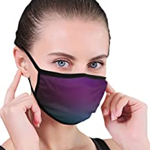 YongColer Premium Mouth Masks Adjustable Elastic Strap Anti-Allergies Respirator for Flu Dust Surgical Cycling, Boys Girls Adults - Healthy (Purple with Teal Blue Green Blur Border Mouth Mask)