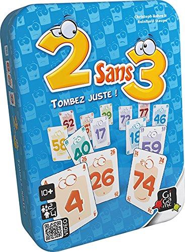 avis jeux du moment professionnel GIGAMIC – 3 jeux de cartes sans 3, AMDEU