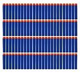 NIWWIN 100 pièces 7.2 cm Recharge Mousse fléchettes Balle pour Nerf N-Strike Elite Series Blasters Enfant Jouet Pistolet Recharge Pack Bleu